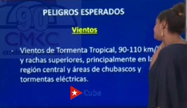 Estas fueron las condiciones y pronóstico al cierre de la tarde de este sábado 7 de noviembre de 2020 en Cuba.