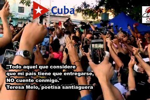 Poetisa santiaguera, Teresa Melo, deja clara su postura ante los sucesos de San Isidro.