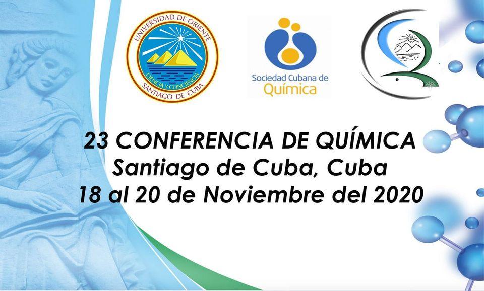 Conferencia de Química en la Universidad de Oriente de Santiago de Cuba.