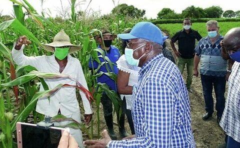 Vicepresidente de la República, Salvador Valdés Mesa, de recorrido por Santiago de Cuba tras afectaciones por la tormenta tropical Eta.
