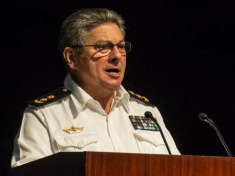 ntervención del Vicealmirante Julio Cesar Gandarilla Bermejo, Viceministro Primero del MININT, en el acto por el Aniversario 55 del Ministerio del Interior (MININT), en la Sala Universal de las FAR, en La Habana, el 6 de junio de 2016.