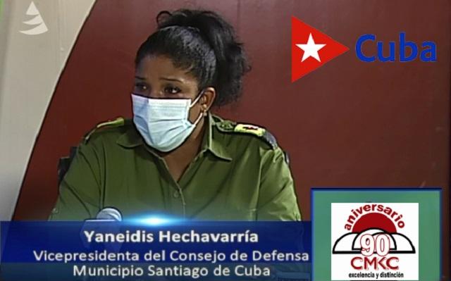 Yaneidis Hechavarría, presidenta del gobierno municipal en Santiago de Cuba. Unos 187 días estuvo Santiago sin la covid-19 y ahora con 56 positivos