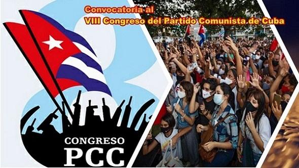 Convocatoria al VIII Congreso del Partido Comunista de Cuba