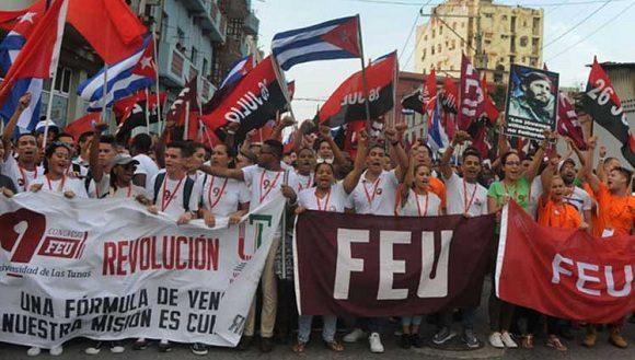 Felicita Presidente Díaz-Canel a la FEU en su 98 cumpleaños