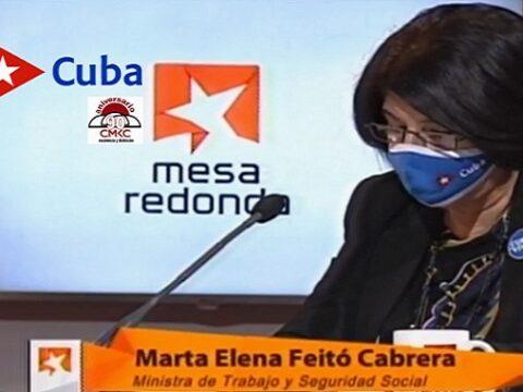 Ministra de Trabajo y Seguridad Social, Marta Elena Feitó