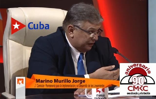 Marino Murillo Jorge, miembro del Buró Político del PCC y Jefe de la Comisión de Implementación y Desarrollo de los Lineamientos