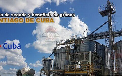 Construyen en Santiago de Cuba planta de secado y beneficio de granos 2021. Foto: Santiago Romero Chang.