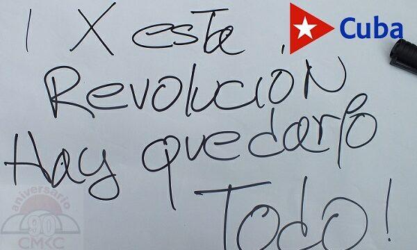 Por esta Rvolución Cubana hay que darlo todo, todo. Jamás rendirnos.
