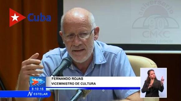 Viceministro de Cultura de #Cuba Fernando Rojas.