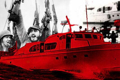 El yate Granma tocó tierras cubanas el 2 de diciembre de 1956, luego de una travesía de ocho días desde Tuxpan. No solo de 82 hombres venía lleno el barco, también de temores y valentías. Imagen: Cubadebate.