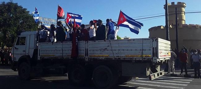Caravana de la Libertad 2021 desde Santiago de Cuba.