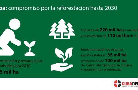 Compromiso de reforestación en Cuba