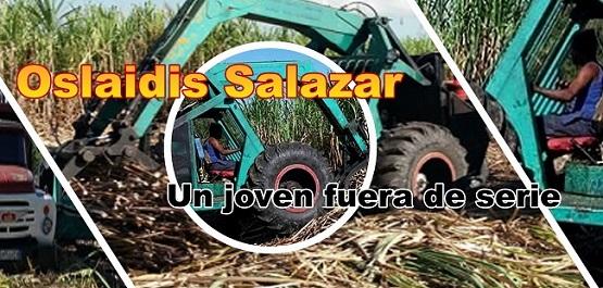 Oslaidis Salazar un joven fuera de serie en el alza y tiro de cañas de azúcar