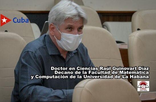 Doctor en Ciencias Raúl Guinovart Díaz, decano de la Facultad de Matemática y Computación de la Universidad de La Habana