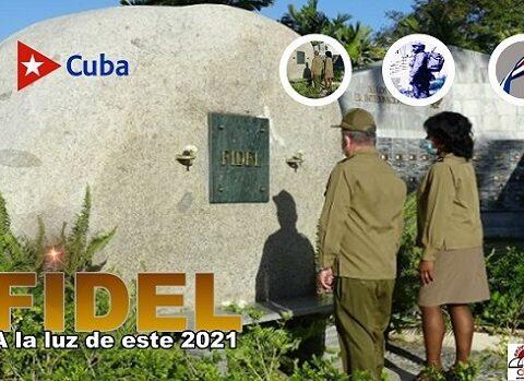 Tributo a Fidel, Martí, Céspedes y Mariana a la luz de 2021
