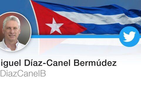 Cuenta en witter del presidente de Cuba, Miguel Díaz Canel Bermúdez