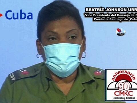 Vice Presidenta del Consejo de Defensa Provincial, Beatriz Johnson Urrutia,