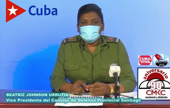 Vice Presidenta del Consejo de Defensa Provincial Santiago, Beatriz Johnson Urrutia,  Foto: Santiago Romero Chang