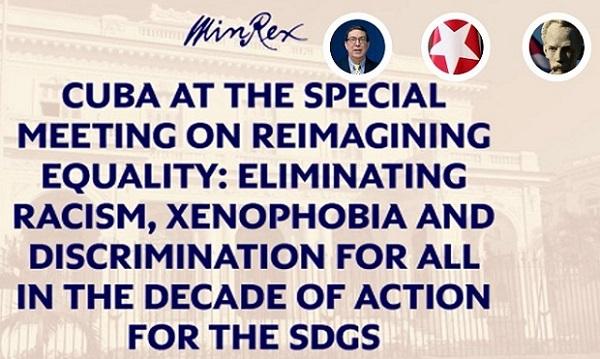 Intervención Reunión Ministerial sobre la Eliminación del racismo, la xenofobia y la discriminación 2021