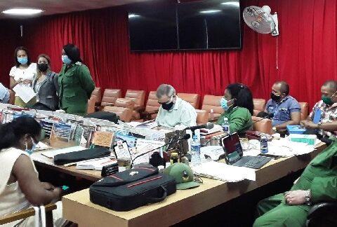 Consejo d Defensa Provincial en Santiago de Cuba.