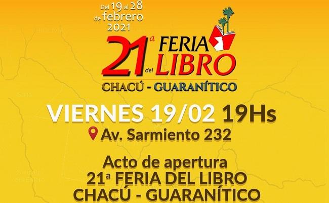 Feria del Libro Chacú – Guaranítico en Argentina hasta el próximo 28 de febrero. En la ocasión se hará público el enlace entre las literaturas chacú – guaranítico y de Santiago de Cuba.