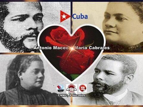 Antonio Maceo y su esposa María Cabrales