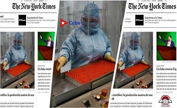 The New York Times: La vacuna contra el coronavirus se acerca a las pruebas finales en Cuba