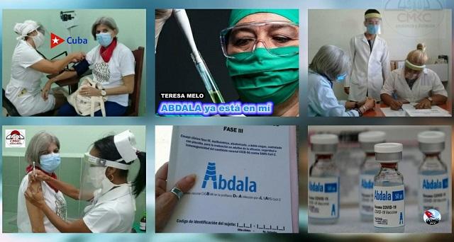 Abdala en mí. Ensayo del candidato vacunal en Santiago de Cuba. Imagen web: Santiago Romero Chang