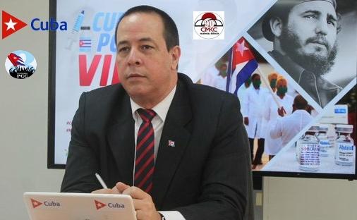 El ministro de Salud Pública, José Angel Portal Miranda expone sobre los aportes de la ciencia en el enfrentamiento a la COVID-19.