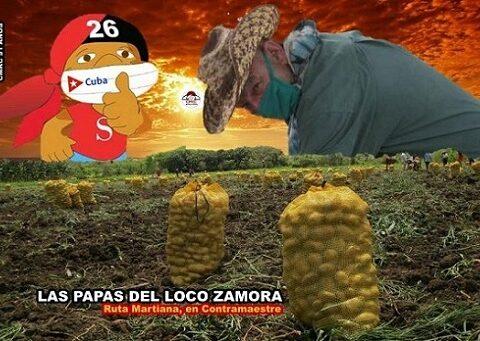 Comió Puré de papa el loco Zamora donde muchos creyeron imposible.Imagen: Santiago Romero Chang.