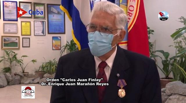 """Orden """"Carlos Juan Finlay"""" 2021 Enrique Juan Marañón Reyes"""