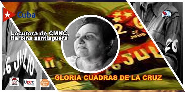 Gloria Cuadras de la Cruz, locutora de CMKC, Heroína santiaguera.Imagen: Santiago Romero Chang