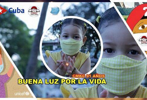 Buena Luz, infancia, lo Virtual, contra la Covid-19 y por la Vida. Patria y Vida. Imagen web: Santiago Romero Chang.