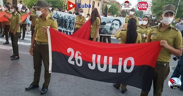 Futuro con las razones del 26 de Julio. Santiago de Cuba con garantía de continuidad generacional. Foto: Santiago Romero Chang.