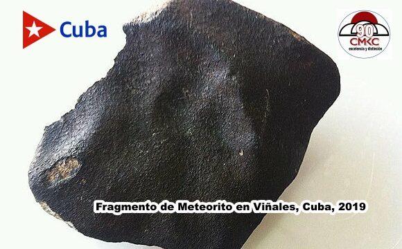Fragmento de Meteorito en Viñales, Cuba, 2019