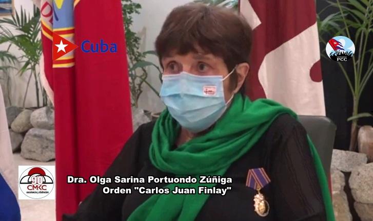 """Orden """"Carlos Juan Finlay"""" 2021 a Olga Sarina Portuondo Zúñiga"""