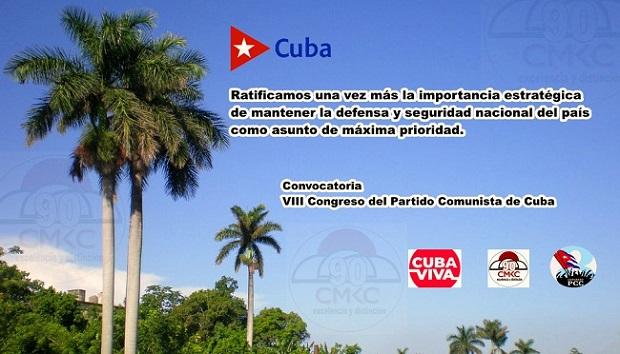 Seguridad Nacional y Desarrollo. Prioridad del Partido Comunista de Cuba. Imagen: Santiago Romero Chang.
