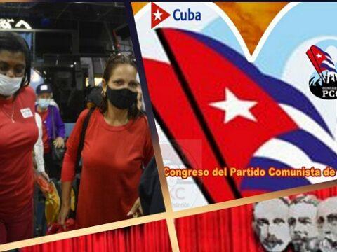 Delegados de Santiago de Cuba y de otras provincias al 8vo. Congreso del Partido. Imagen web: Juvenal Balán y Santiago Romero Chang