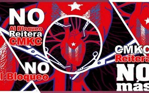 Bloqueo NO, Viva Cuba Libre. Imagen web: Santiago Romero Chang