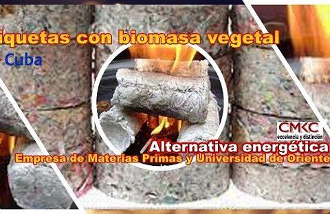 Briquetas de papel y biomasa vegetal, baratas y energéticas en Santiago de Cuba. Imagen: Santiago Romero Chang