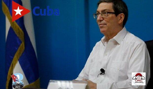 Canciller cubano Bruno Rodríguez Parrilla. Miembro del Buró Político