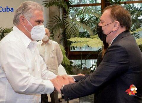 Recibió Díaz-Canel a Vicepresidente del Gobierno de la Federación de Rusia