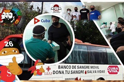 Jornada de Donación de Sangre en Santiago de Cuba. Imagen: Santiago Romero Chang