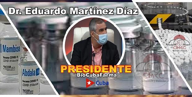 Dr. Eduardo Martínez Díaz, presidente de BioCubaFarma. Imagen web: Santiago Romero Chang