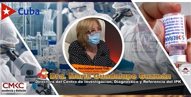 Dra. María Guadalupe Guzmán, directora de Investigación, Diagnóstico y Referencia del IPK, Imagen web: Santiago Romero Chang
