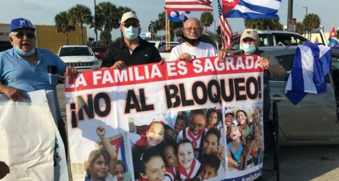 No al bloqueo, caravana tunera contra criminal política económica y financiera del gobierno de los Estados Unidos contra Cu