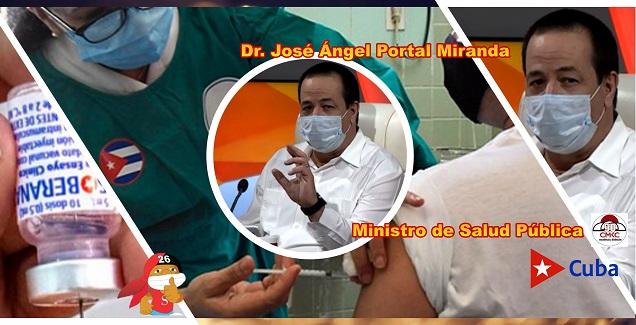 El ministro de Salud Pública, Dr. José Ángel Portal Miranda. Imagen web: Santiago Romero Chang