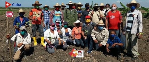 En Ruta Martiana, municipio de Contramaestre, provincia Santiago de Cuba; movimiento de producción agroalimentario.
