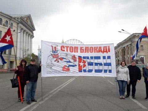 Cuba and Ucrania against blockade always
