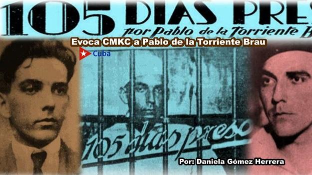 CMKC evoca a Pablo de la Torriente Brau. 105 días preso. Imagen web: Santiago Romero Chang.